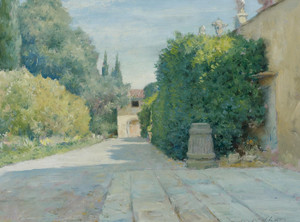 Art Prints of Villa in Florence by William Merritt Chase