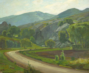 Art Prints of El Toro Road at Laguna Beach by William Wendt