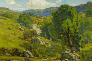 Art Prints of Claremont Oaks by William Wendt