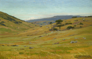 Art Prints of Grassy Hillsides by William Wendt