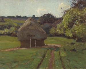 Art Prints of Haystacks by William Wendt