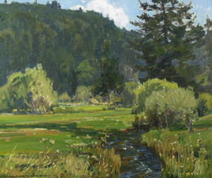 Art Prints of Meandering Stream by William Wendt
