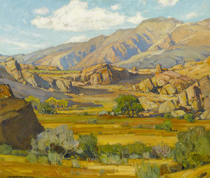 Art Prints of Rocky Desert Mountains by William Wendt
