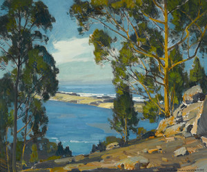 Art Prints of The Bay Bar and Sea at Morro by William Wendt