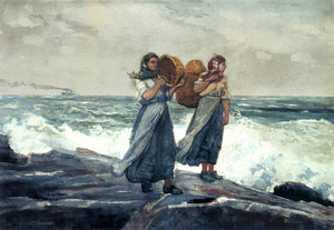 Art Prints of A Fresh Breeze by Winslow Homer