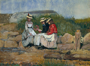 Art Prints of A Fisherman's Daughter by Winslow Homer