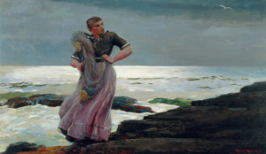 Art Prints of A Light on the Sea by Winslow Homer