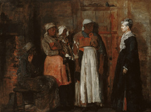 Art Prints of A Visit from the Old Mistress by Winslow Homer