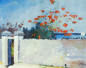 Art Prints of A Wall Nassau by Winslow Homer
