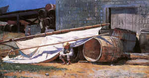 Art Prints of Boy in a Boatyard by Winslow Homer