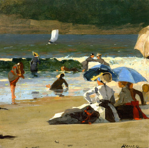 Art Prints of By the Shore by Winslow Homer