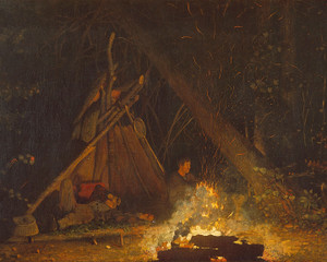 Art Prints of Campfire by Winslow Homer