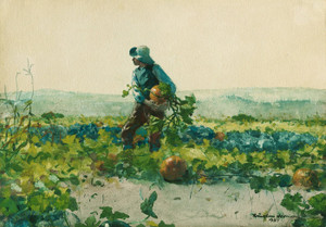 Art Prints of For to be a Farmer's Boy by Winslow Homer