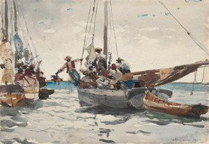 Art Prints of Market Scene Nassau by Winslow Homer