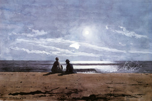 Art Prints of Moonlight by Winslow Homer