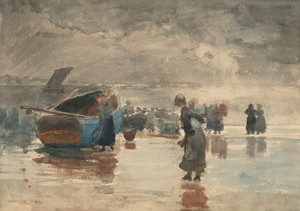 Art Prints of On the Sands by Winslow Homer