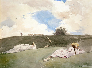 Art Prints of Shepherdesses Resting by Winslow Homer