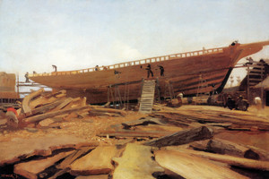 Art Prints of Shipbuilding Gloucester by Winslow Homer
