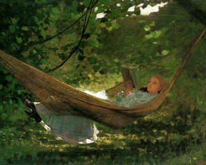 Art Prints of Sunlight and Shadow by Winslow Homer