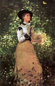 Art Prints of The Butterfly Girl by Winslow Homer