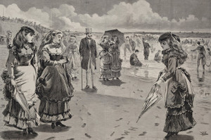 Art Prints of The Beach at Long Branch by Winslow Homer