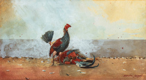 Art Prints of The Cock Fight by Winslow Homer