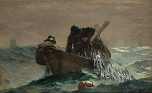 Art Prints of The Herring Net by Winslow Homer