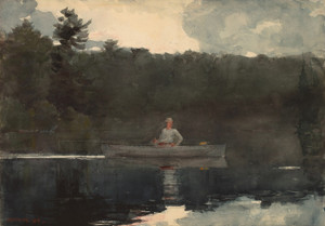 Art Prints of The Lone Fisherman by Winslow Homer