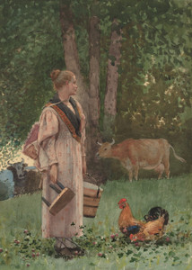 Art Prints of The Milk Maid by Winslow Homer