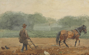 Art Prints of The Plowman by Winslow Homer