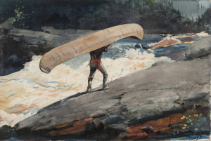 Art Prints of The Portage by Winslow Homer