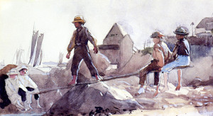 Art Prints of The See Saw by Winslow Homer