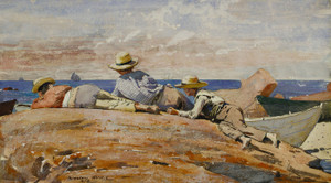 Art Prints of Three Boys on the Shore by Winslow Homer