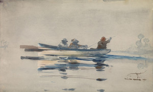 Art Prints of Three Men in a Boat by Winslow Homer
