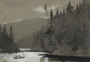 Art Prints of Three Men in a Canoe by Winslow Homer