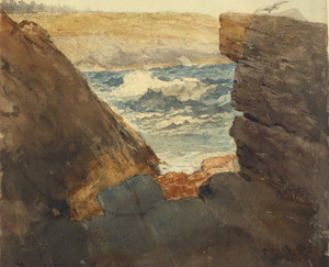Art Prints of Through the Rocks by Winslow Homer