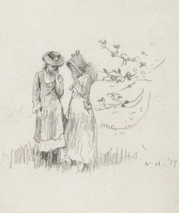 Art Prints of Two Girls in a Field by Winslow Homer