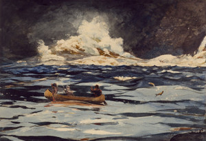 Art Prints of Under the Falls, the Grand Discharge by Winslow Homer