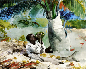 Art Prints of Under the Coco Palm by Winslow Homer