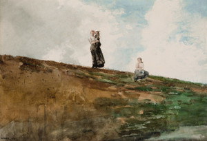 Art Prints of Watching from the Cliffs by Winslow Homer