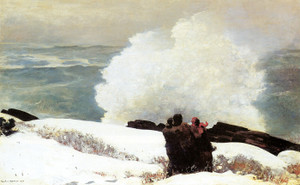 Art Prints of Watching the Breaker, a High Sea by Winslow Homer