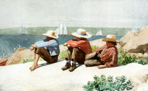Art Prints of Watching Ships, Gloucester by Winslow Homer