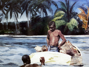 Art Prints of West India Divers by Winslow Homer