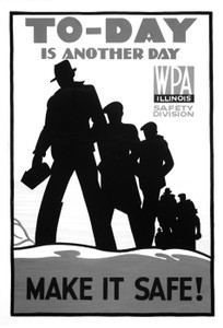 Art Prints of To-Day is Another Day, Make It Safe (399127), WPA Poster