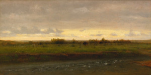 Art Prints of Evening Along the Platte River by Worthington Whittredge