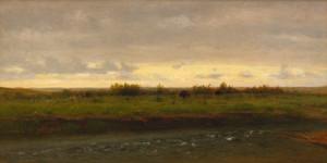 Art Prints of Evening Along the Platte River by Worthington Whittredge