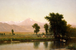 Art Prints of Crossing the River Platte by Worthington Whittredge