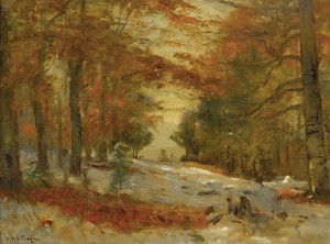 Art Prints of First Snow by Worthington Whittredge