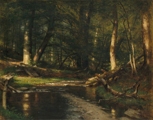Art Prints of The Brook in the Woods by Worthington Whittredge