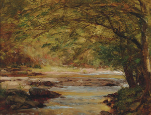 Art Prints of Sunshine on the Brook by Worthington Whittredge